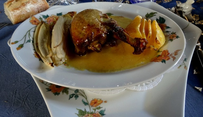 Plat : canard à l'orange