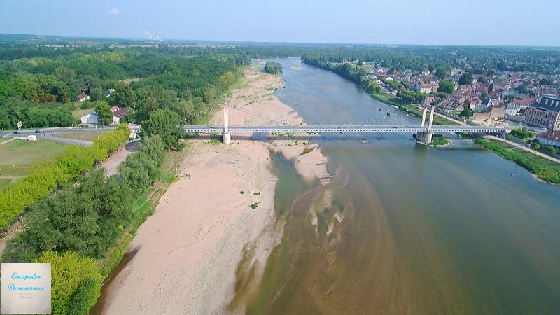 Nievre Cosne sur Loire vue de drone